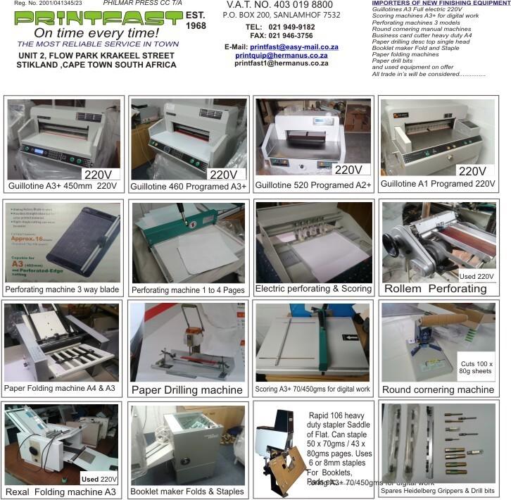 Printfast printing equipment bellville western cape netpages printfast printing equipment printfast printing equipment reheart Image collections