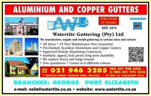 Watertite Guttering Cape Pty Ltd Bellville Western Cape Netpages