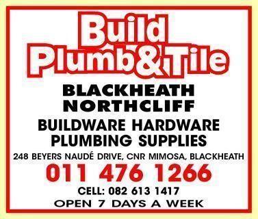 Build Plumb & Tile Blackheath Johannesburg, Gauteng - NetPages