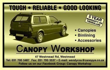 Canopy Workshop CC Durban, KwaZulu Natal - NetPages