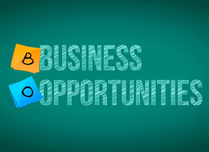 business opportunities sign and posts