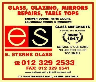 E Sterne Glass, Repairs, Showers